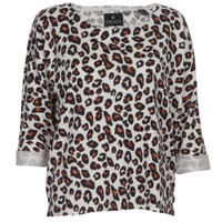 maison scotch relaxed fit printed knit
