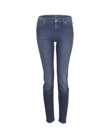 7 For All Mankind Womens Blue Skinny Jean