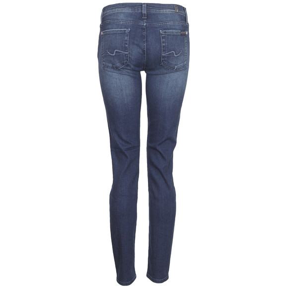 7 For All Mankind Womens Blue Skinny Jean main image