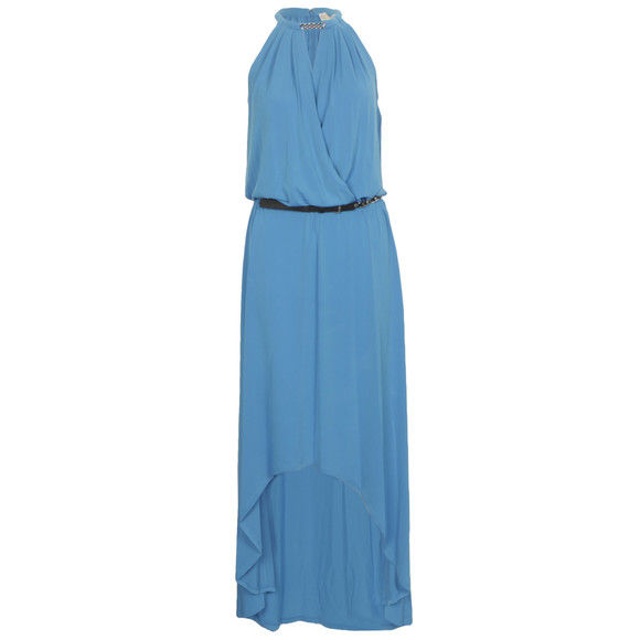 Michael Kors Womens Blue Elip Hem Dress main image