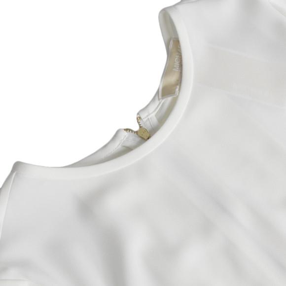 Michael Kors Womens White Pleat Back T Shirt main image