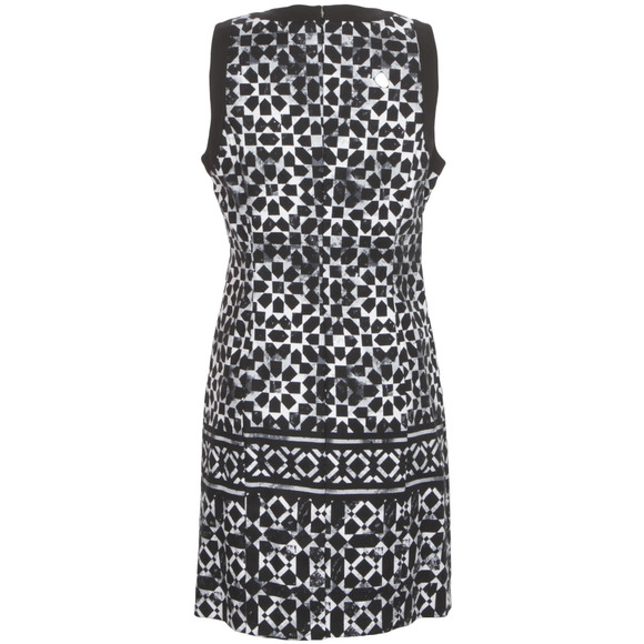 Michael Kors Womens Black Sleeveless Mosaic Border Dress main image