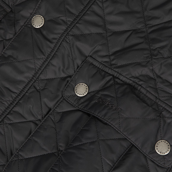 Barbour International Mens Black Ariel Quilted Jacket main image