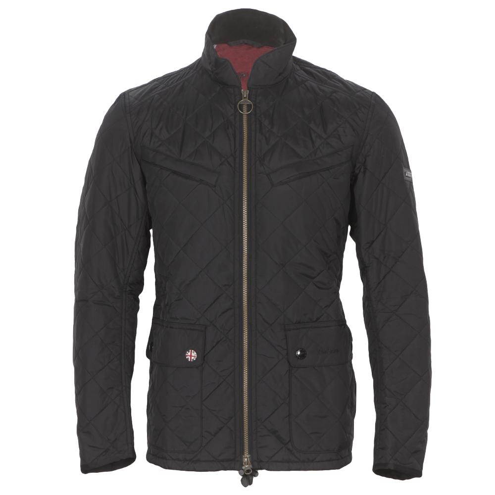 c0db7c677 Mens Black Barbour Chichester Black Quilted Jacket