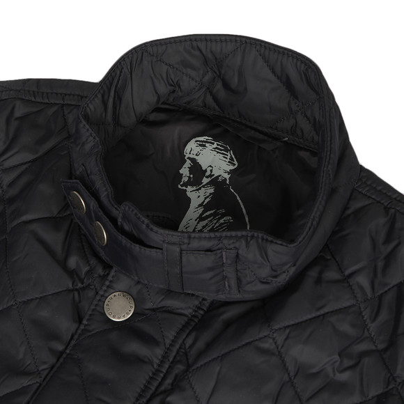 Barbour International Mens Blue Ariel Quilted Jacket main image
