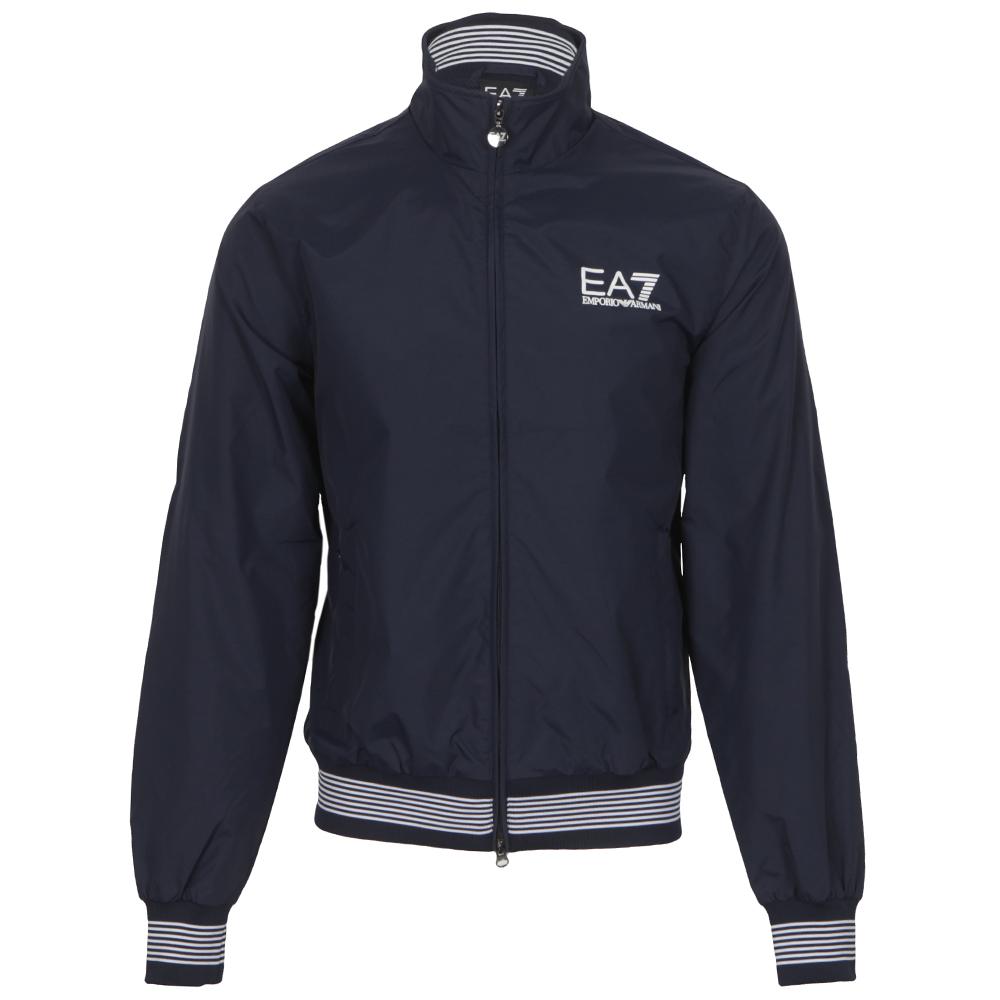 915b8cbad0c2d EA7 Emporio Armani Mens Blue EA7 Emporio Armani Sea World Blouson Blueberry  Jacket