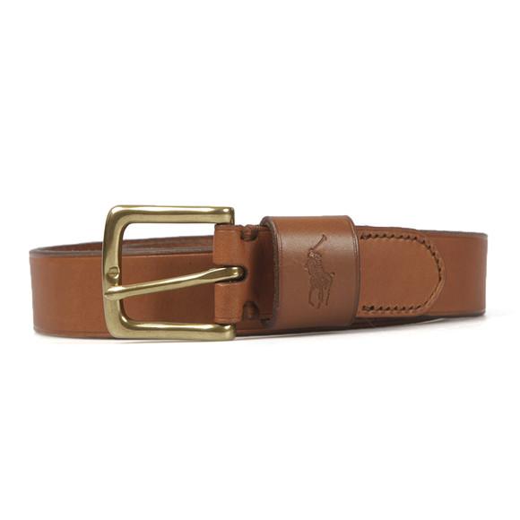 Polo Ralph Lauren Mens Brown Ralph Lauren Vacheta Tan Leather Belt main image