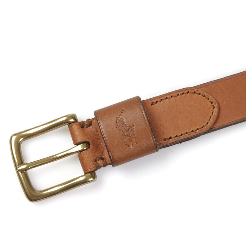 Ralph Lauren Vacheta Tan Leather Belt main image