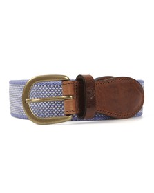 Fred Perry Mens Blue Fred Perry Two Colour Woven Blue Belt