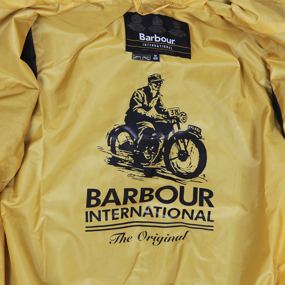 Barbour International Boys Black Barbour Boys Glanton Waxed Jacket main image