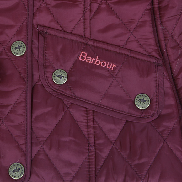 Barbour Lifestyle Girls Purple Barbour Equestrian Gracie Quilt main image