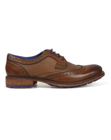 Ted Baker Mens Brown Cassiuss 3 Leather Brogue