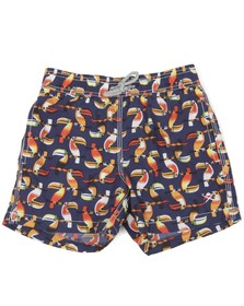 Hackett Boys Blue Hackett Boys Toucan Print Swim Short