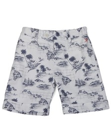 Hackett Boys White Hackett Boys Hawaiian Print Short