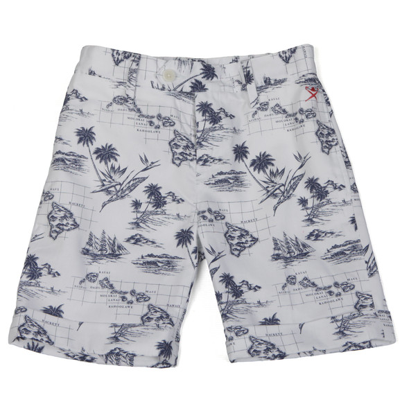 Hackett Boys White Hackett Boys Hawaiian Print Short main image