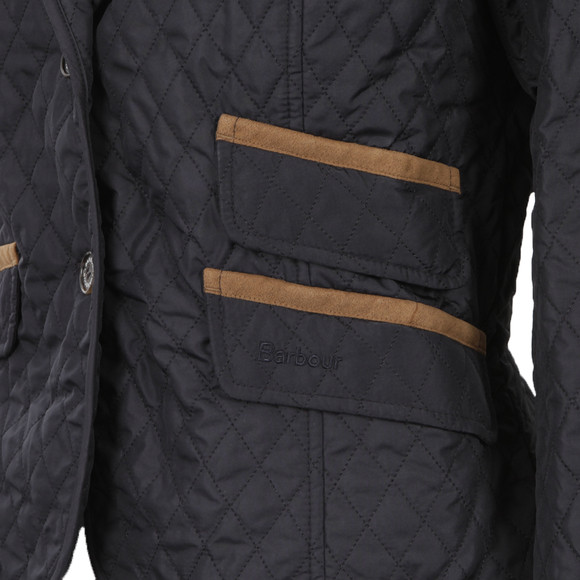 Barbour Lifestyle Womens Blue Downham Quilted Jacket main image