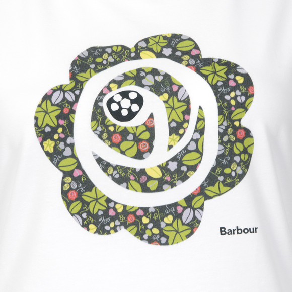 Barbour Lifestyle Womens White Spindrift Crew Tee main image