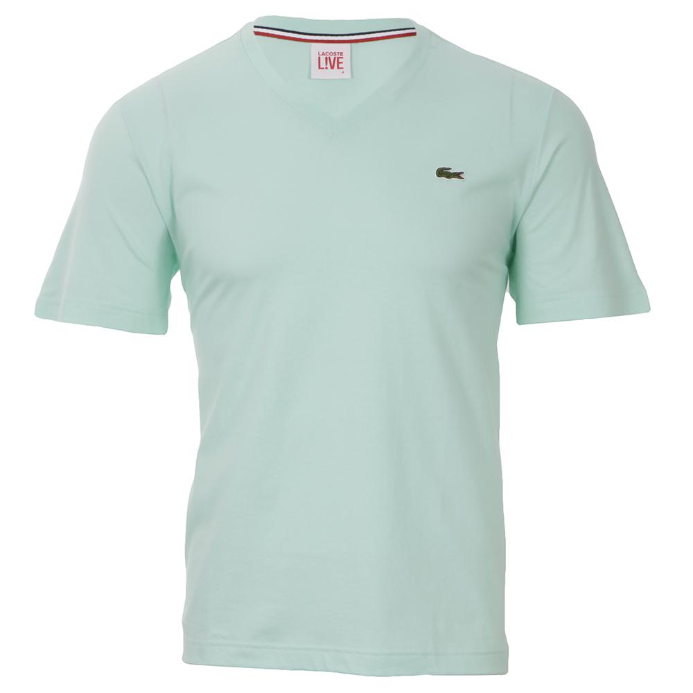 269811169b Lacoste Live Lacoste L!ve Moorea TH6522 V-Neck T-Shirt | Oxygen Clothing