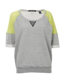 Maison Scotch Womens Green Baseball Inspired Sweater