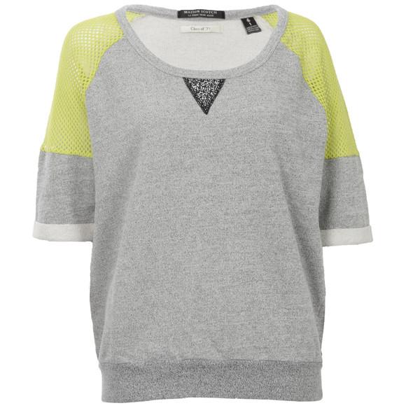 Maison Scotch Womens Green Baseball Inspired Sweater main image