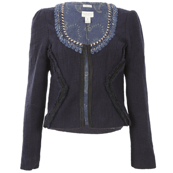 maison scotch indigo tweed blazer