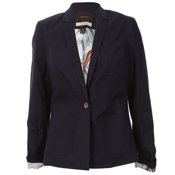 maison scotch summer canvas stretch blazer