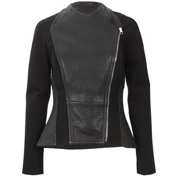 ted baker meyaa panelled leather biker jacket