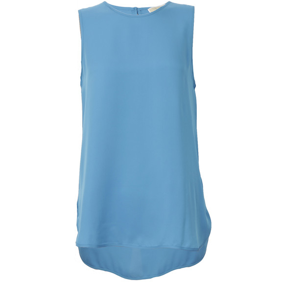 Michael Kors Womens Blue Sleeveless Tank Top main image