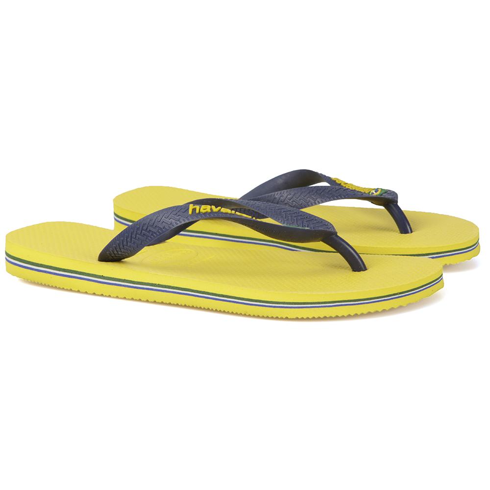0013d8c3c8703c Havaianas Unisex Yellow Brazil Logo Flip Flop main image. Loading zoom