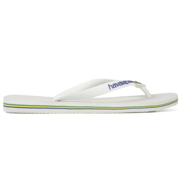 Havaianas Unisex White Brazil Logo Flip Flop