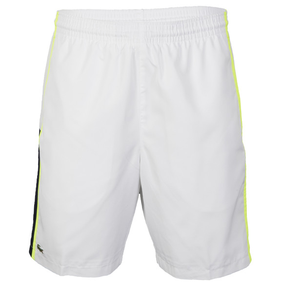 Lacoste Sport Mens White Lacoste GH314T Blanc Jaune Panel Shorts main image f3ee953808e