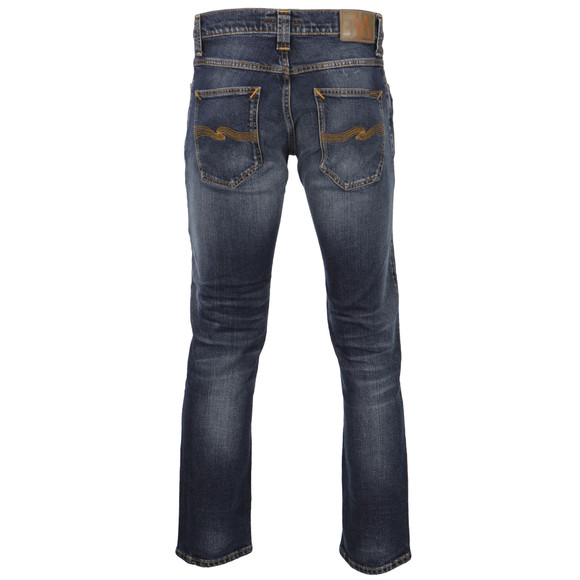 Nudie Jeans Mens Blue Grim Tim Twisted Blue Jeans main image