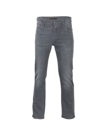Nudie Jeans Mens Grey Thin Finn Lighter Shade Dry Stretch Jean
