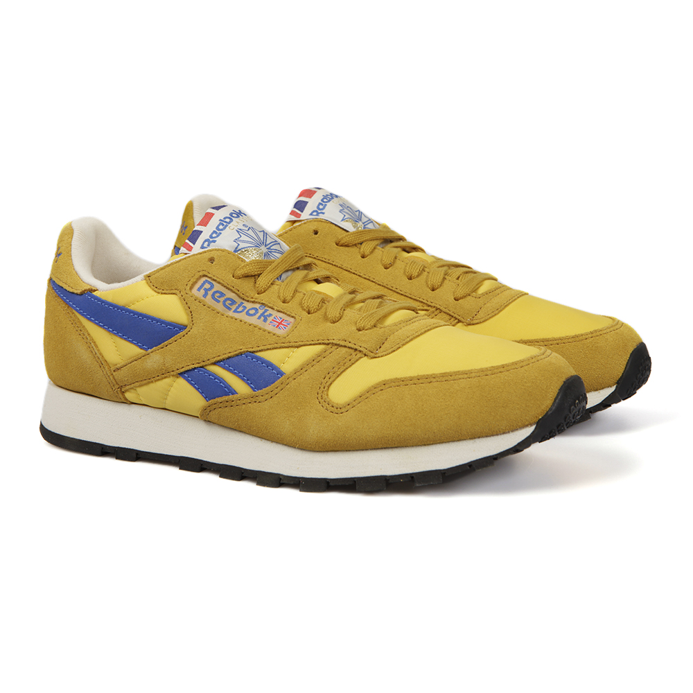 3750844bb439f Reebok Classic CL Leather Lemon Vintage Trainer main image