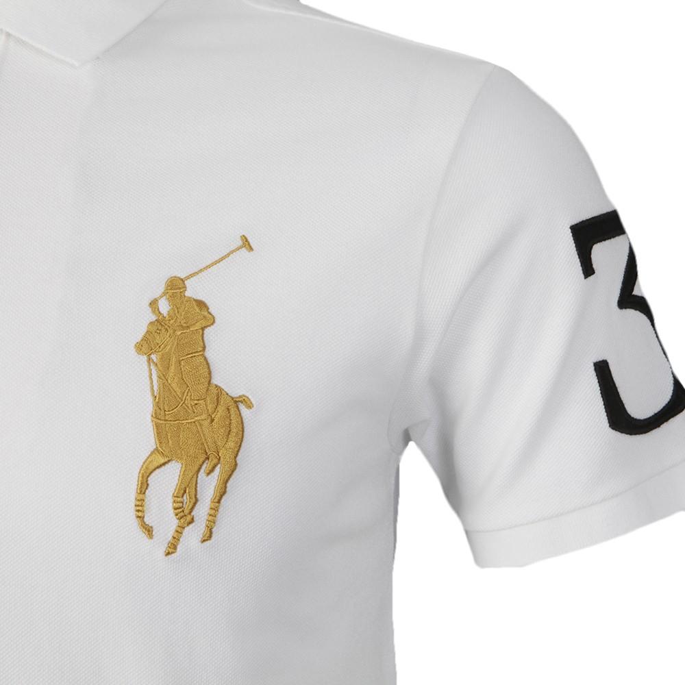 a2e305ab4065 Polo Ralph Lauren Ralph Lauren White Blackwatch Team Polo Shirt ...