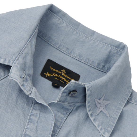 Vivienne Westwood Anglomania Womens Blue Rider Shirt main image