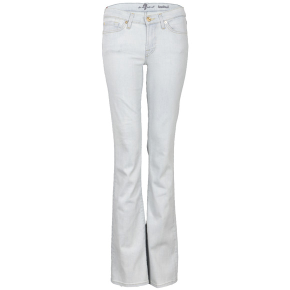 7 For All Mankind Womens Blue Bootcut Bleached Jean main image