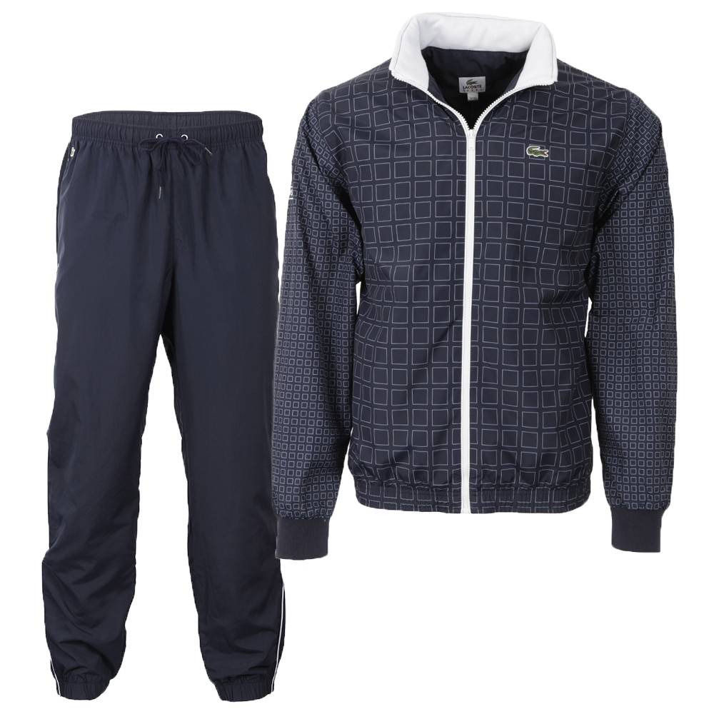 various colors 6aaa0 093d2 Mens Blue Lacoste Sport Marine/Blanc Tracksuit WH7669