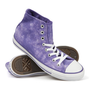 converse tie dye hi trainer in Night Shade