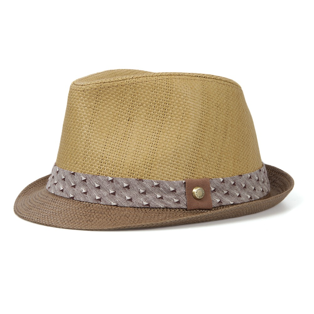 718e4ac3b96 Ted Baker Chocolate Straw Highlight Band Trilby Hat