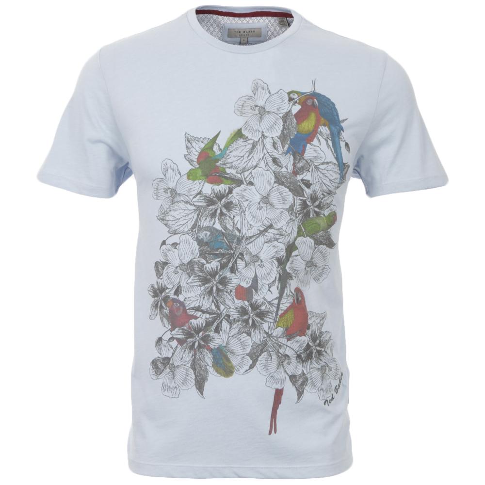 682c08446c7373 Ted Baker Floral Parrot Print T-Shirt