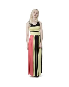 French Connection Womens Black Medina Stripe Sleeveless Dress