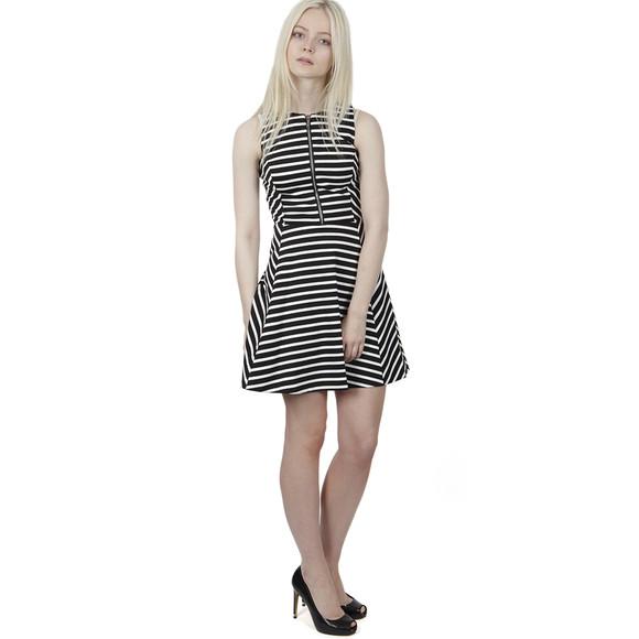 michael kors sleeveless stripe circle dress