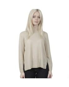 Michael Kors Womens Beige Crew Hilo Hem Sweater