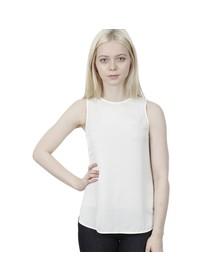Michael Kors Womens Off-white Sleeveless Tank Top