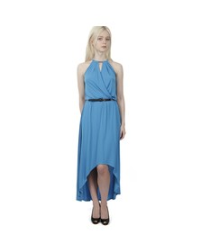 Michael Kors Womens Blue Elip Hem Dress