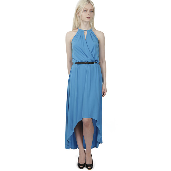 Michael Kors Womens Blue Elip Hem Dress main image