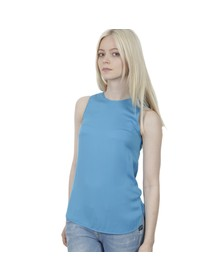 Michael Kors Womens Blue Sleeveless Tank Top