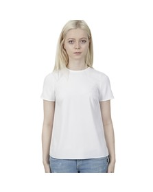 Michael Kors Womens White Pleat Back T Shirt
