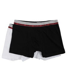Replay Mens White Replay White/Black 2 Pack Boxers